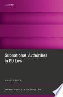 Subnational Authorities in EU Law