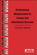 Performance Measurement in Library and Information Services