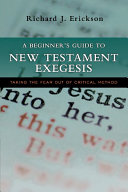 A Beginner's Guide to New Testament Exegesis Pdf/ePub eBook