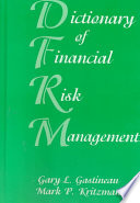 Dictionary of Financial Risk Management Book