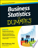 """""""Business Statistics For Dummies"""" by Alan Anderson"""