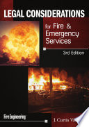 Legal Considerations For Fire And Emergency Services 3rd Edition Book PDF