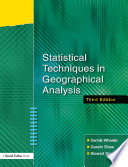 Statistical Techniques In Geographical Analysis Third Edition Book PDF