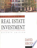 Essentials of Real Estate Investment Book