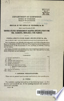 United States Government Master Specification for Ink, Marking, Indelible, for Fabrics