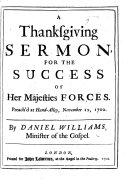 A Thanksgiving Sermon  on 2 Chron  xx  26 28  for the success of Her Majesties Forces  preach d     November 12  1702