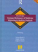 German Dictionary Of Medicine