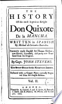 The History of the Most Ingenious Knight Don Quixote de la Mancha 2