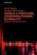 World Literature, Cosmopolitanism, Globality