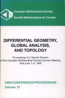 Differential Geometry, Global Analysis, and Topology