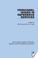 Personnel Issues In Reference Services