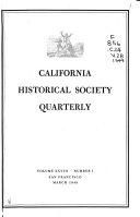 California Historical Society Quarterly