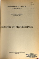 Record of Proceedings   International Labor Conference Book