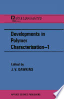 Developments in Polymer Characterisation   1 Book