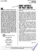 Energy Abstracts For Policy Analysis Book PDF
