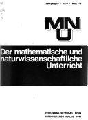 Der Mathematische und naturwissenschaftliche Unterricht