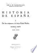 Historia de España: De los orígines a la baja Edad Media. 2v