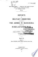 Reports of Military Observers Attached to the Armies in Manchuria During the Russo-Japanese War ... Pdf/ePub eBook