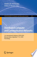 Distributed Computer and Communication Networks Book