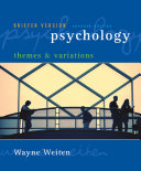 Psychology  Themes and Variations  Briefer Edition Book