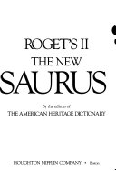 Roget s II New Thesaurus