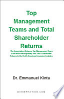 Top Management Teams And Total Shareholder Returns