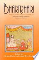 Bhartr Hari Philosopher And Grammarian