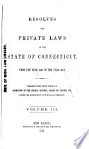 Special Laws Of The State Of Connecticut