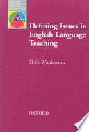 Defining Issues In English Language Teaching