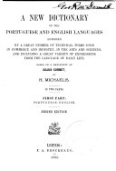 A New Dictionary of the Portuguese and English Languages: Portuguese-English