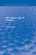 The Tudor Law of Treason (Routledge Revivals) Pdf/ePub eBook
