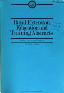 Rural Extension  Education and Training Abstracts