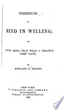 Freedom of Mind in Willing Book