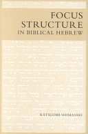Focus Structure in Biblical Hebrew