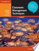 Classroom Management Techniques Book