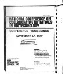 National Conference On Collaborative Initiatives In Biotechnology