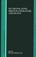 On Translating French Literature and Film II Pdf/ePub eBook