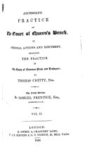 Archbold's Practice of the Court of Queen's Bench in Personal Actions and Ejectment. The eighth edition, etc