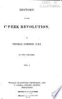 History of the Greek Revolution Book