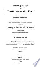Memoirs of the Life of David Garrick  Esq Book