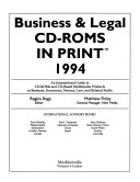 Business   Legal CD ROMS in Print