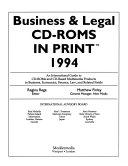 Business Legal Cd Roms In Print Book