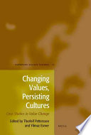 Changing Values  Persisting Cultures Book