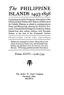 The Philippine Islands  1493 1803 Book