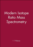 Modern Isotope Ratio Mass Spectrometry Book