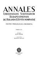 Annales Universitatis Scientiarum Budapestinensis de Rolando E  tv  s Nominatae