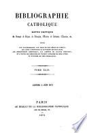 Bibliographie catholique Pdf/ePub eBook
