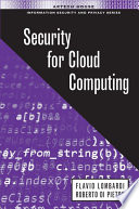 Security For Cloud Computing Book PDF