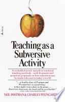 Teaching As a Subversive Activity Book