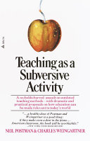 Pdf Teaching As a Subversive Activity Telecharger